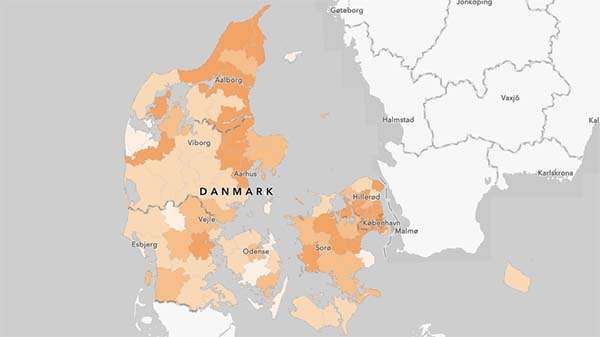 Nyt coronakort: Det ser fantastisk ud - men en region har potentiale til blive arnested for store udbrud